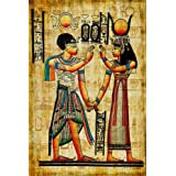 GoEoo 20x10ft Egyptian Wall Painting Vinyl Photography Background Carve Tomb Hieroglyphs Wall Mural Pharaoh Ancient Art Africa Burial Tradition Heritage Studio Photo Prop Protraits Shoot
