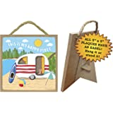 This Is My Happy Place Summer Beach Lake Camper Sign 5 x 5 Hang or Stand