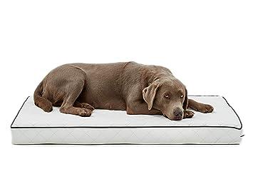 Woofery Estera ortopédica para Perros Stitch Cama para Perro cómodo casa para Mascotas 136x84cm Blanco