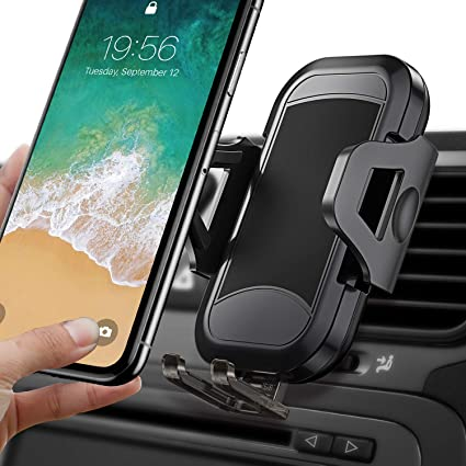 """S10e S9 LG Pixel /& All 4-7/"""" Phones for iPhone 11 Pro Xs Max XR X 8 Plus 7 6 6S Samsung Galaxy S10 5G S10 Cell Car Phone Holder 3-in-1 Universal Phone Mount for Car Dashboard Windshield or Air Vent"""