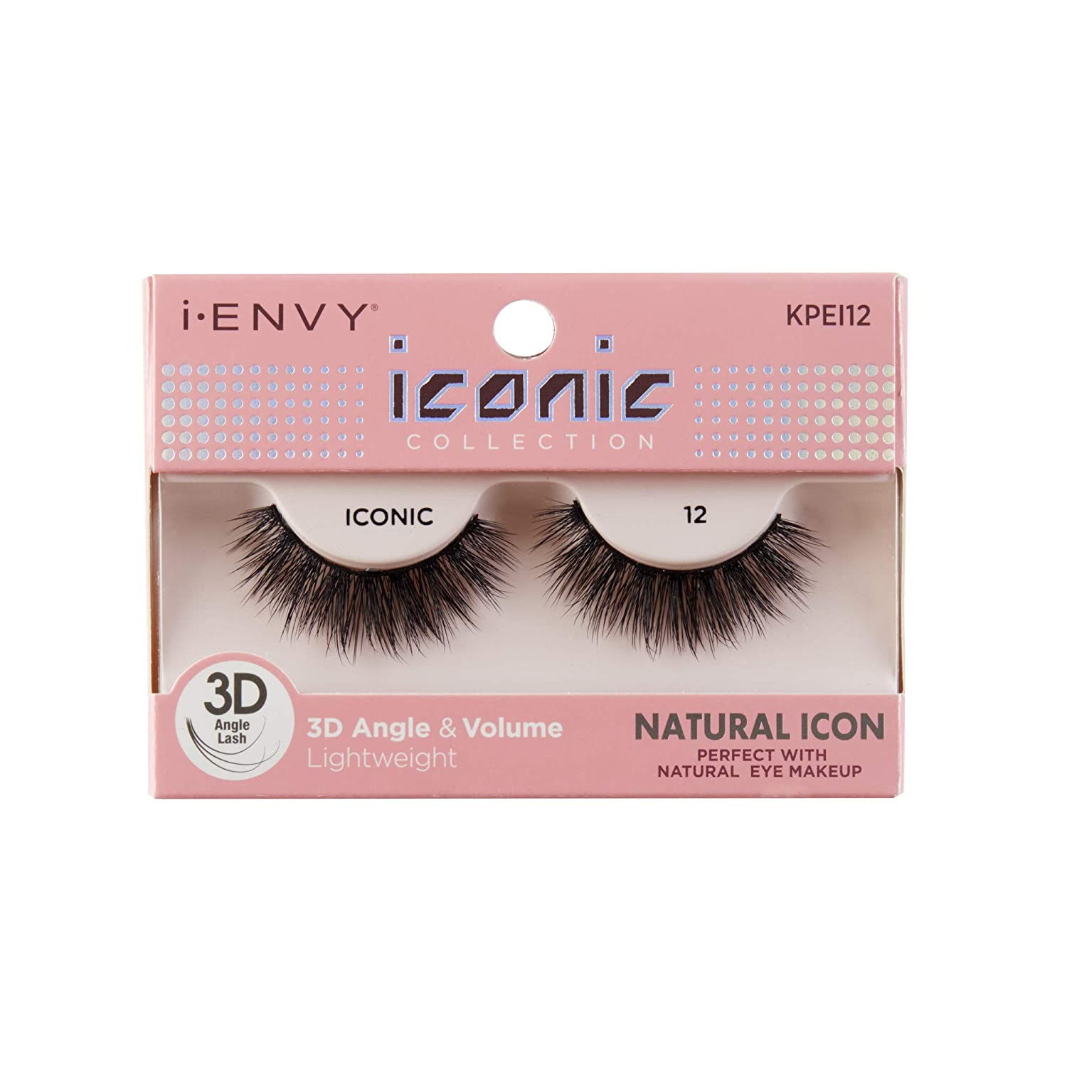 710a9be3cd7 Amazon.com : i Envy by Kiss iconic 3D Angle & Volume Lashes NATURAL ICON 12  : Beauty