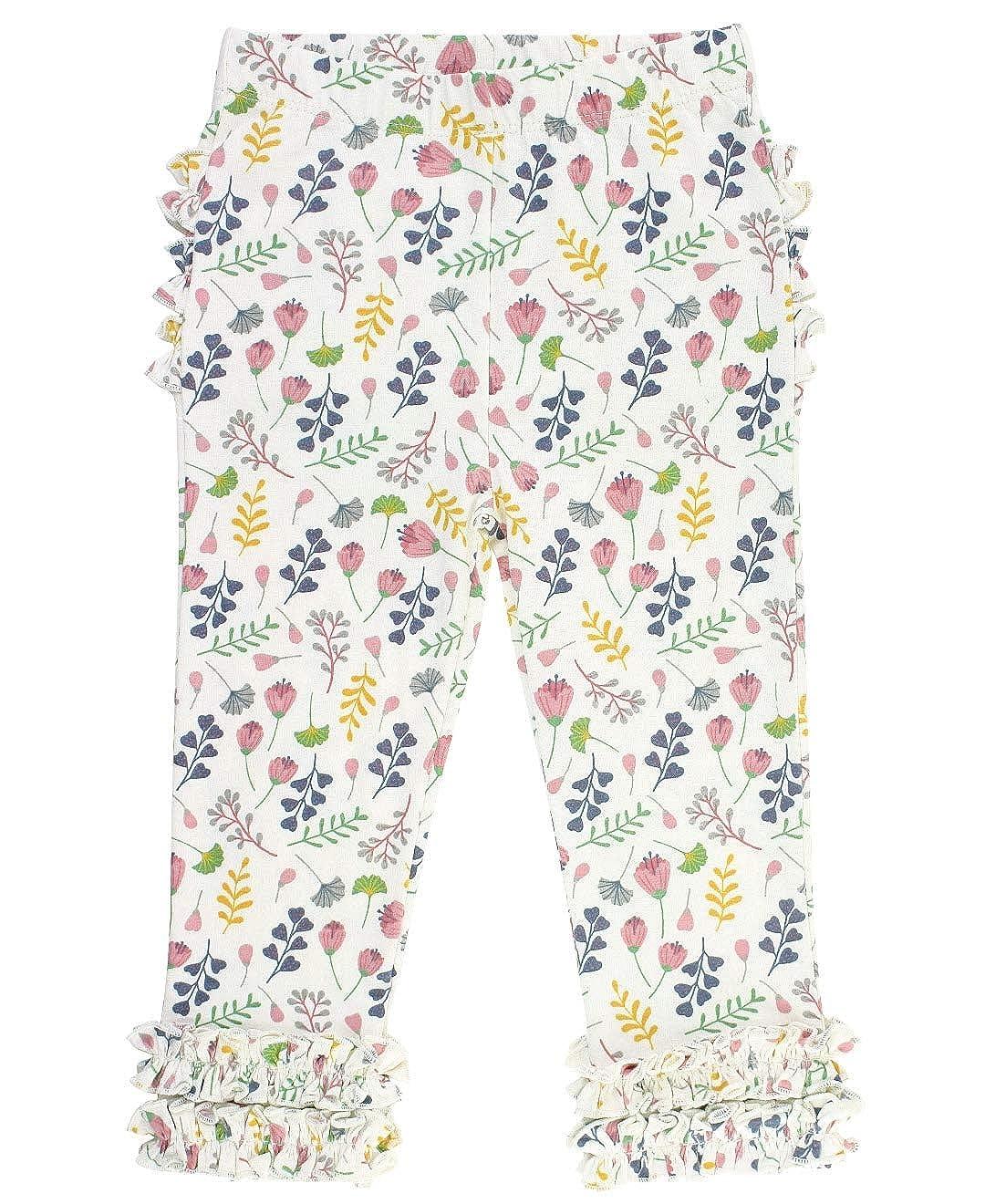 RuffleButts Baby//Toddler Girls Soft Knit Ankle Length Ruffle Leggings