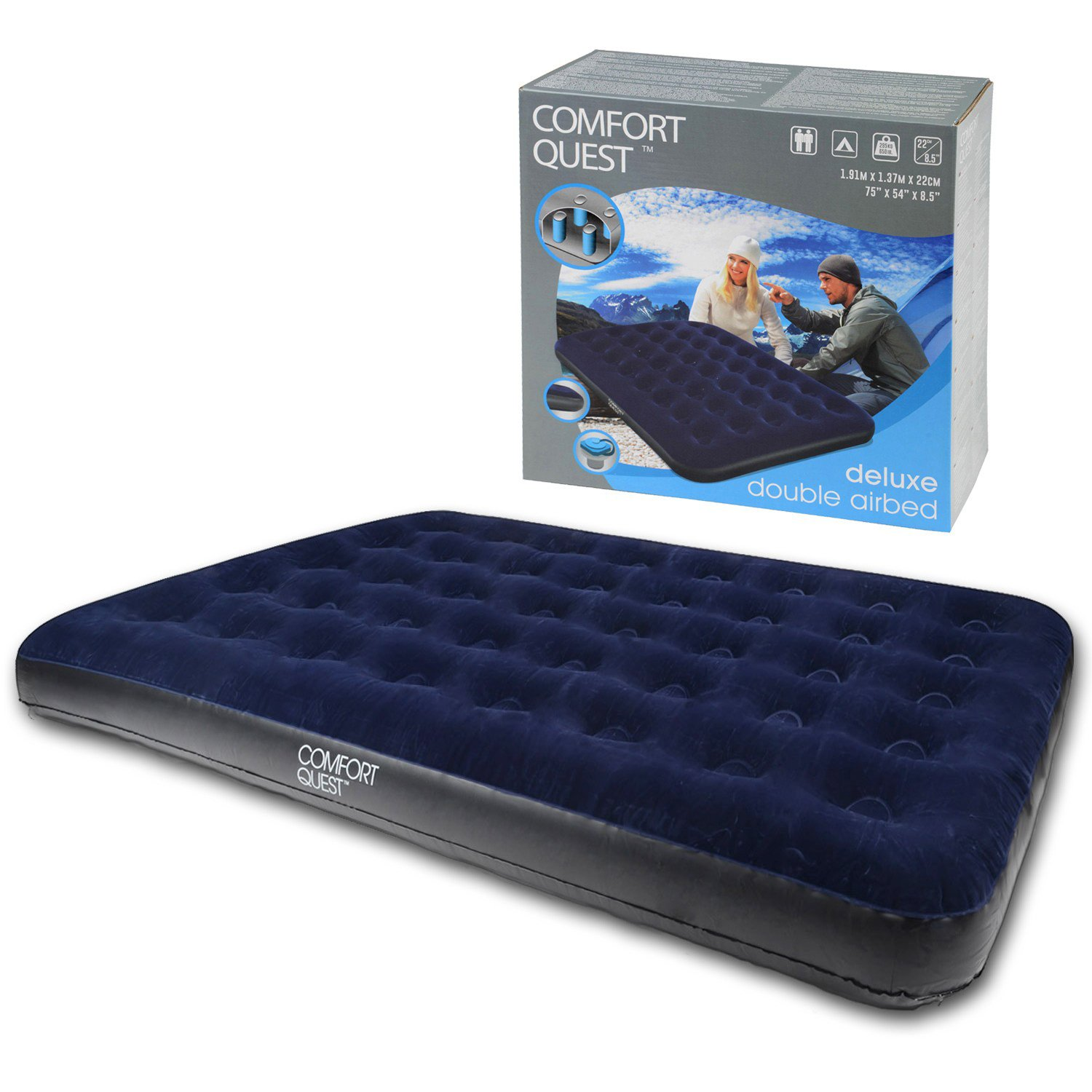 Sleeping bag suit moreover blow up air mattress as well bed inflatable - Double Airbed Inflatable Blow Up Camping Mattress Guest Air Bed Comfort Quest