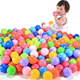HeroNeo® 100pcs Colorful Ball Fun Ball Soft Plastic Ocean Ball Baby Kid Toy Swim Pit Toy