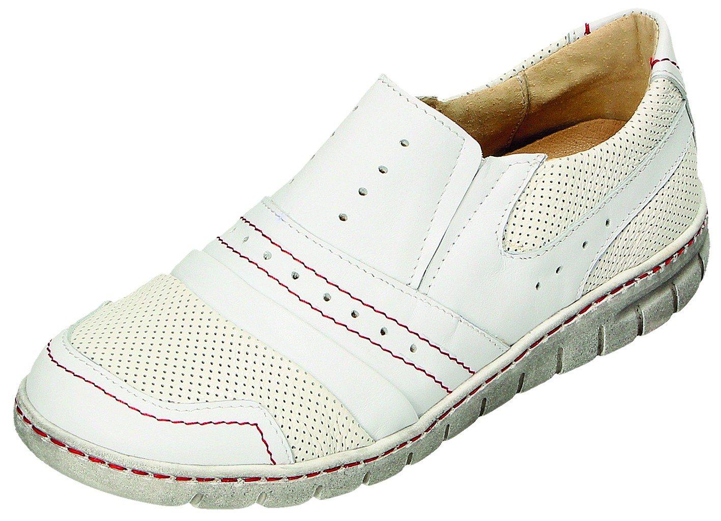 MICCOS Zapatos de Cordones Para Mujer Blanco/Rojo 39 EU|blanco/rojo