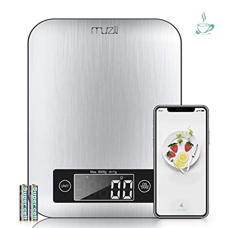 Amazon.com: Muzili - Báscula de cocina inteligente con ...