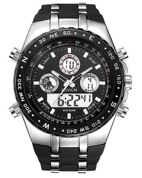 Reloj Digital Deportivo para Hombre, Esfera Grande, Resistente al Agua, analógico, Resistente a los Golpes, con retroiluminación LED, para Hombre, ...