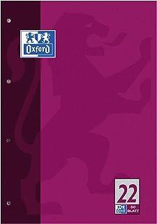 OXFORD 100050389 Schulblock Schule 10er Pack A5 Lineatur 7 - kariert 40 Blatt Kopfspirale Notizblock Schreibblock Papierblock