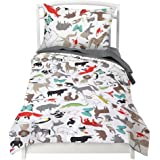 Amazon none childrenskids little adventurer world map design twin animal duvet cover set with 1 pillowcase for kids bedding double brushed microfiber by gumiabroncs Images