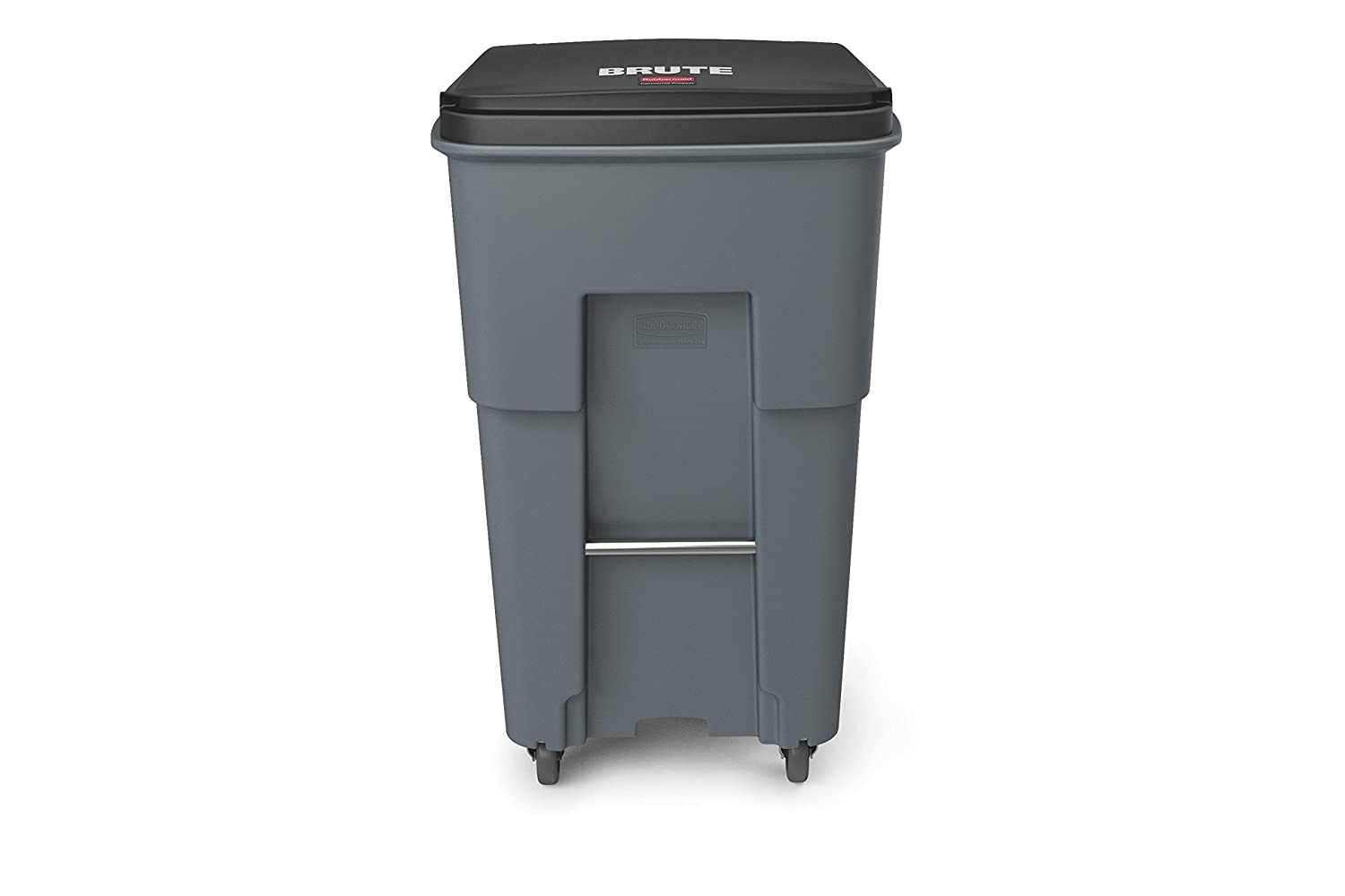 65 gal//246 L 44.740 Height Gray 25.330 Width Rubbermaid Commercial 1971971 Brute Rollout Trash Can with Casters
