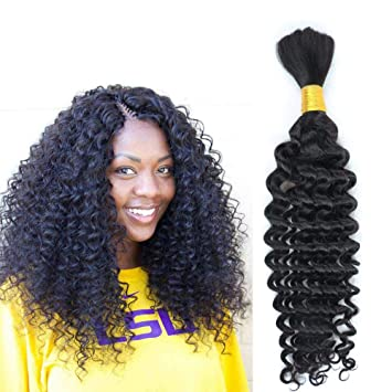Hannah Deep Weave Bulk Braiding Hair, 100% Human Hair,Micro Braids,Hot  Selling,Mixing length 100g