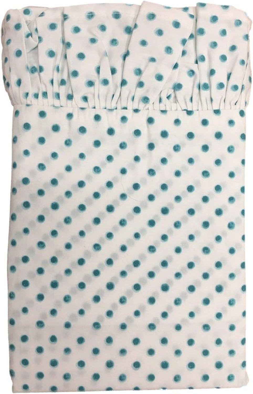 The Pioneer Woman Polka Dot Ruffle Pillowcase Set, Standard Blue