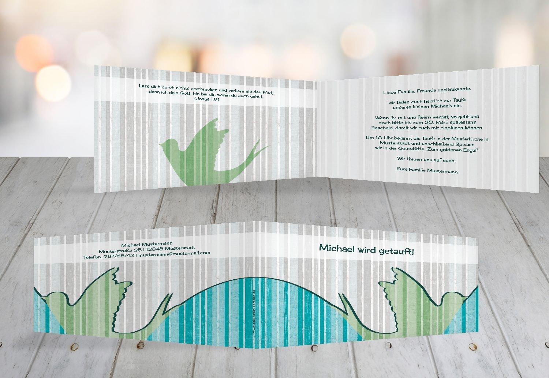 Kartenparadies Einladungskarte Taufeinladung Taufkarte Streifenharmonie, hochwertige Einladung zur Taufe inklusive Umschläge   100 Karten - (Format  215x105 mm) Farbe  OckerBeige B01MTEZPXB | Bekannt für seine gute Qualität  |  Neuer Markt  | Innov