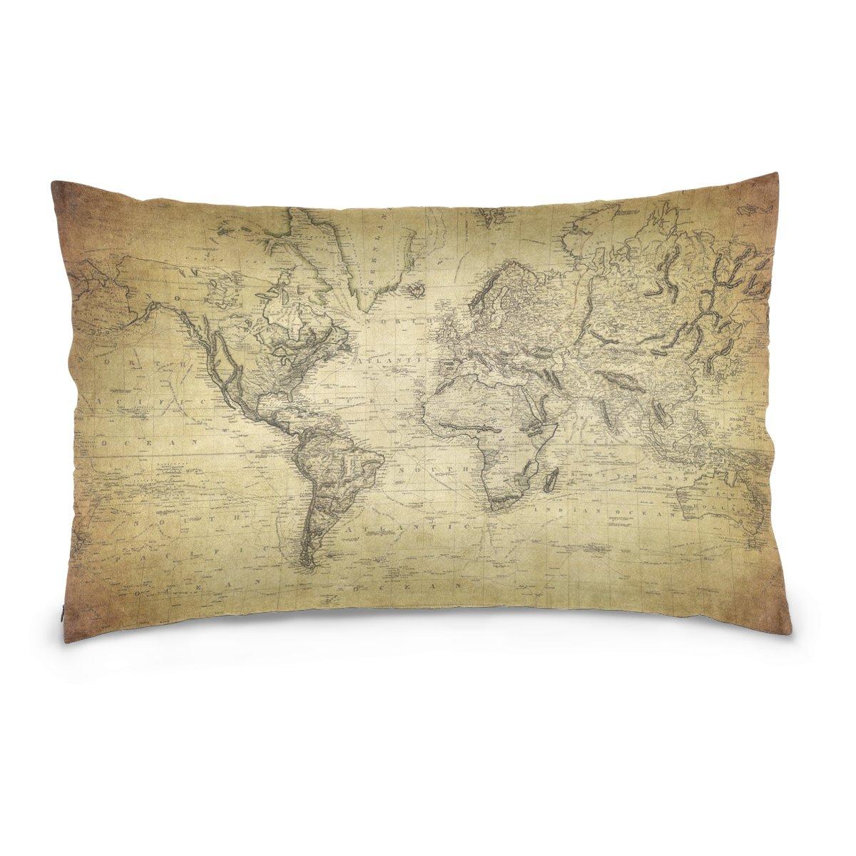 Amazon Com Alaza Global Globe World Map Cotton Standard Size