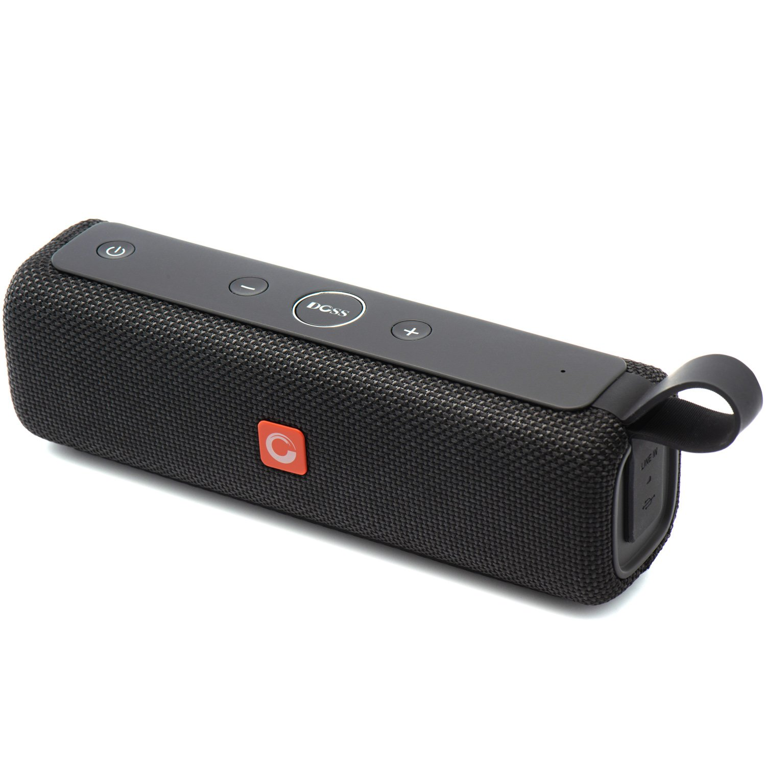 DOSS E-go II Portable Bluetooth Speakers with Great Sound and Extra Bass, IPX6 Waterproof, Built-in Mic, 12W Drivers, 12-Hour Playtime, Wireless Speakers for Phone, Computers, TV and More
