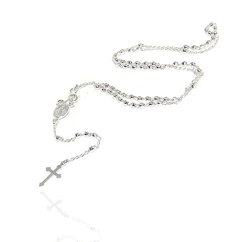 scarpe sportive e3bd6 399a5 NALBORI ® Collana rosario uomo o donna in Argento 925 ...