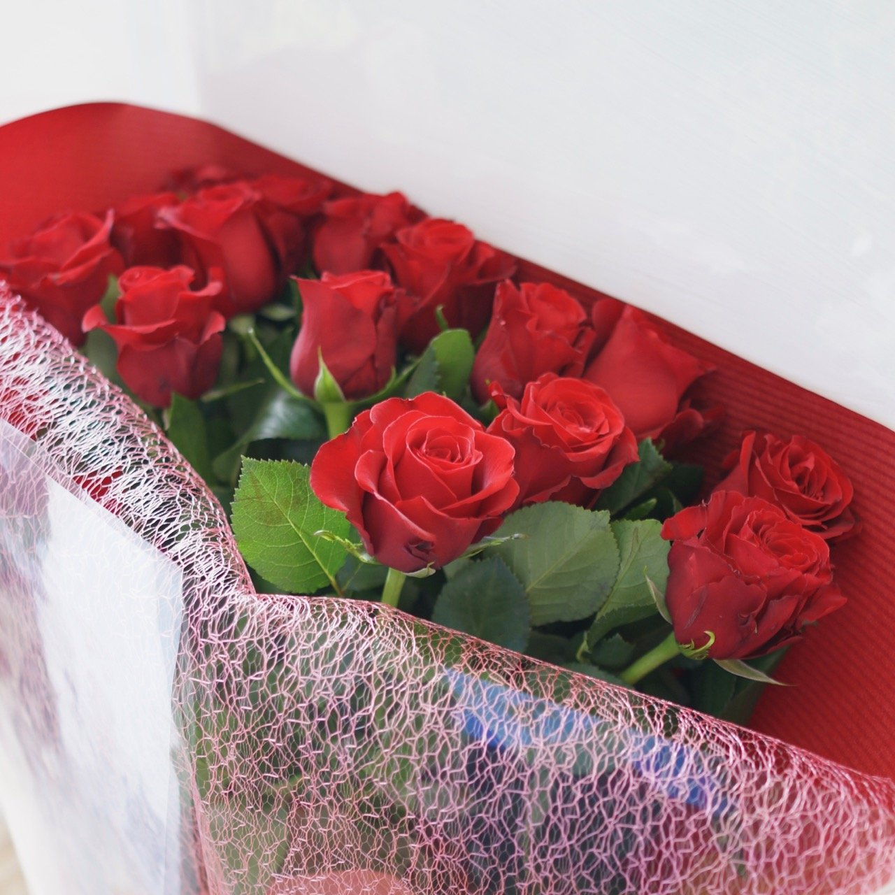フラワーショップカレラ 赤バラの花束 (40本) B076PDGZQZ 40本  40本
