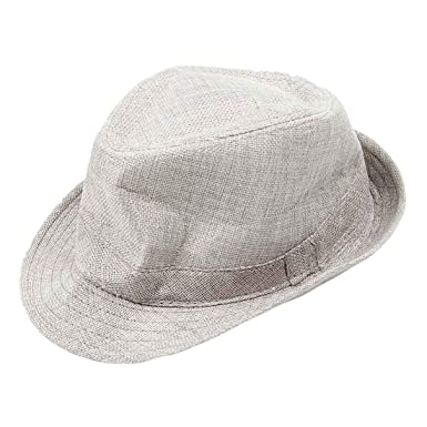 Image Unavailable. Image not available for. Colour  SODIAL(R) Men Women  Unisex Summer Beach Hat Sun Jazz Panama Gangster Cap Trilby 595eb235bf56