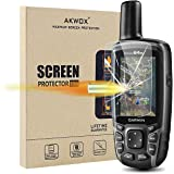 (Pack of 4) Tempered Glass Screen Protector for Garmin GPSMAP 62 64 64s 64st, Akwox 0.3mm 9H Hard Scratch-resistant Protectiv