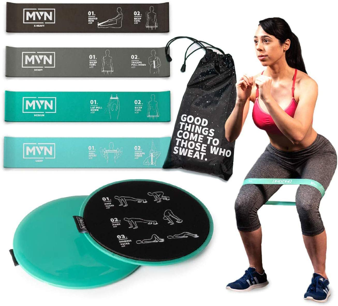 Resistance Exercise Workout Bands For Rehab and Home Fitness ULTIMATE FITNESS