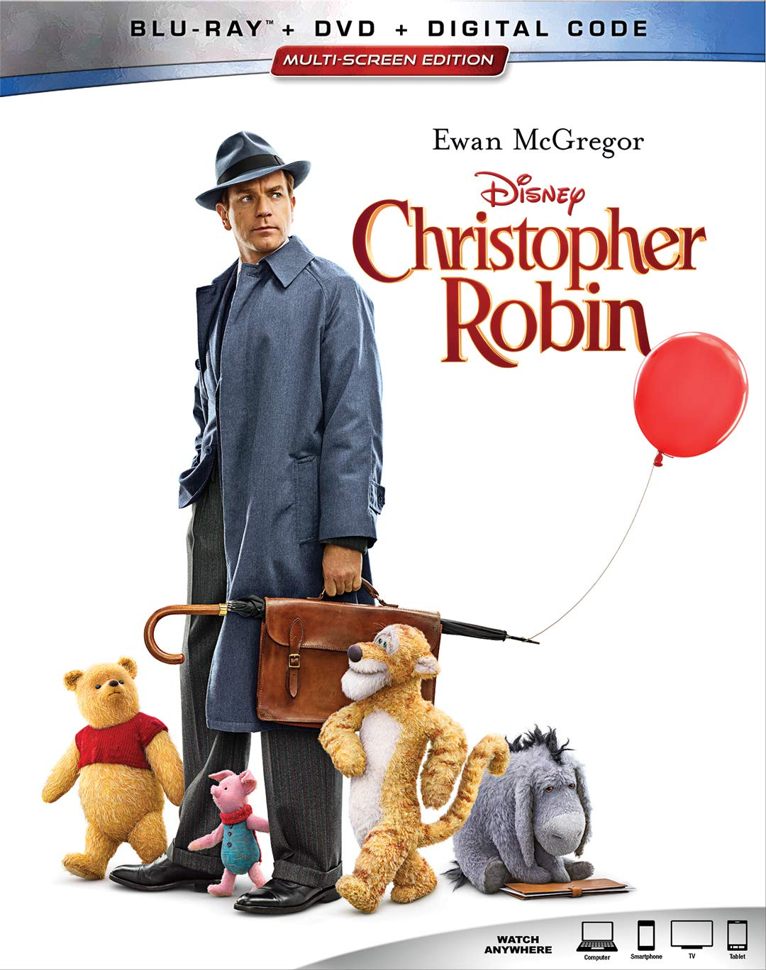 CHRISTOPHER ROBIN [Blu-ray] Ewan McGregor Hayley Atwell Jim Cummings Brad Garrett