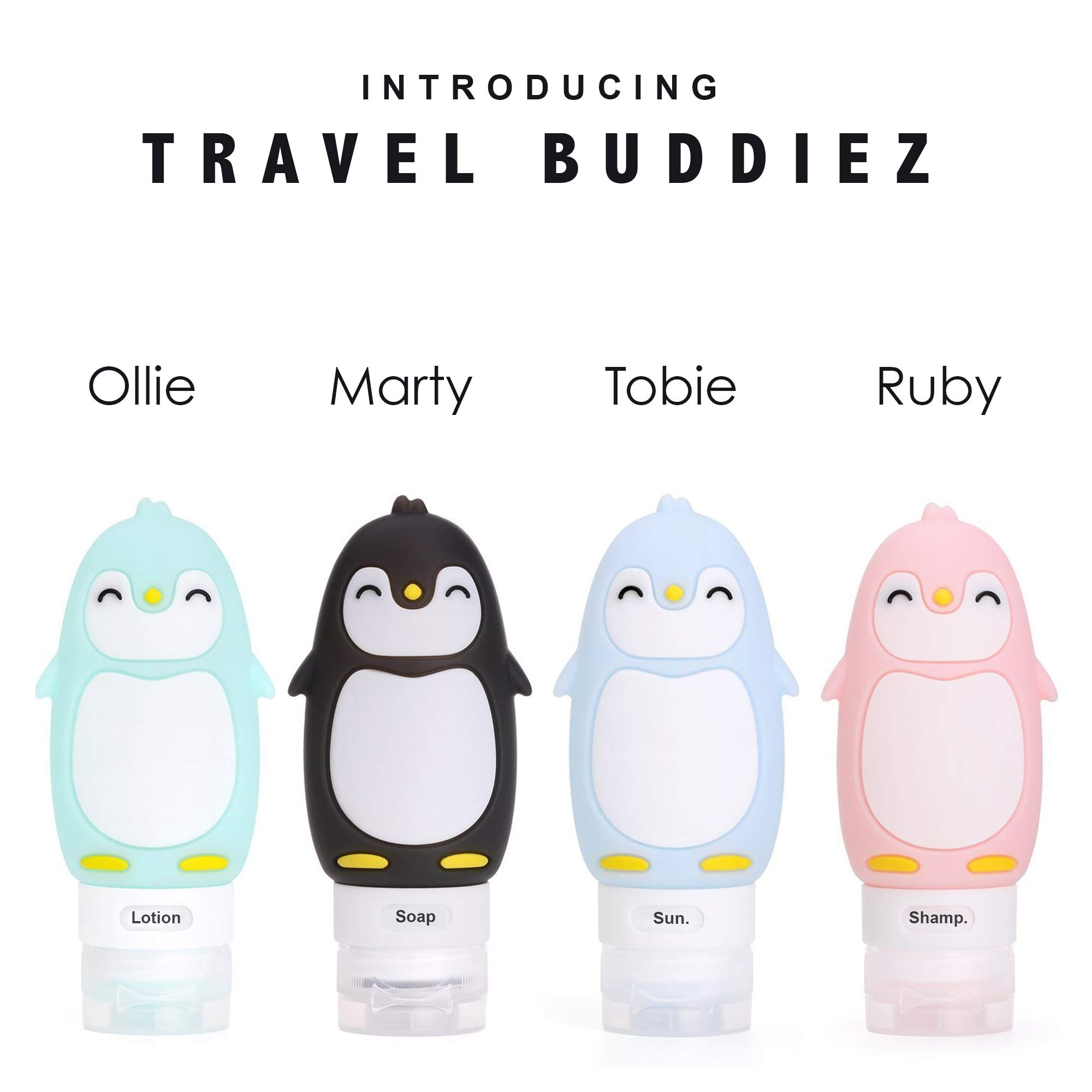 Kanga Care Travel Buddiez - Penguin Family (4 pack)