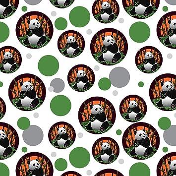 amazon com giant panda bear eating bamboo premium gift wrap