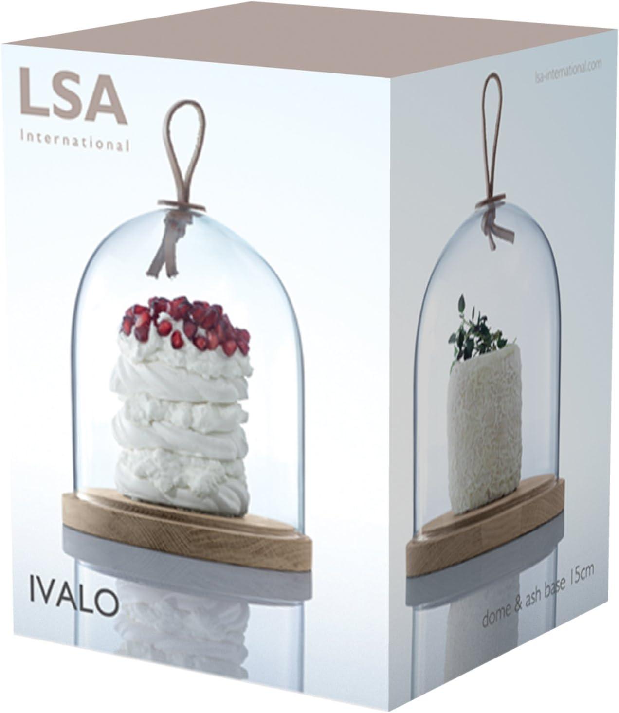 LSA International Ivalo d/ôme et Base en fr/êne Clair 15.5 cm Claire
