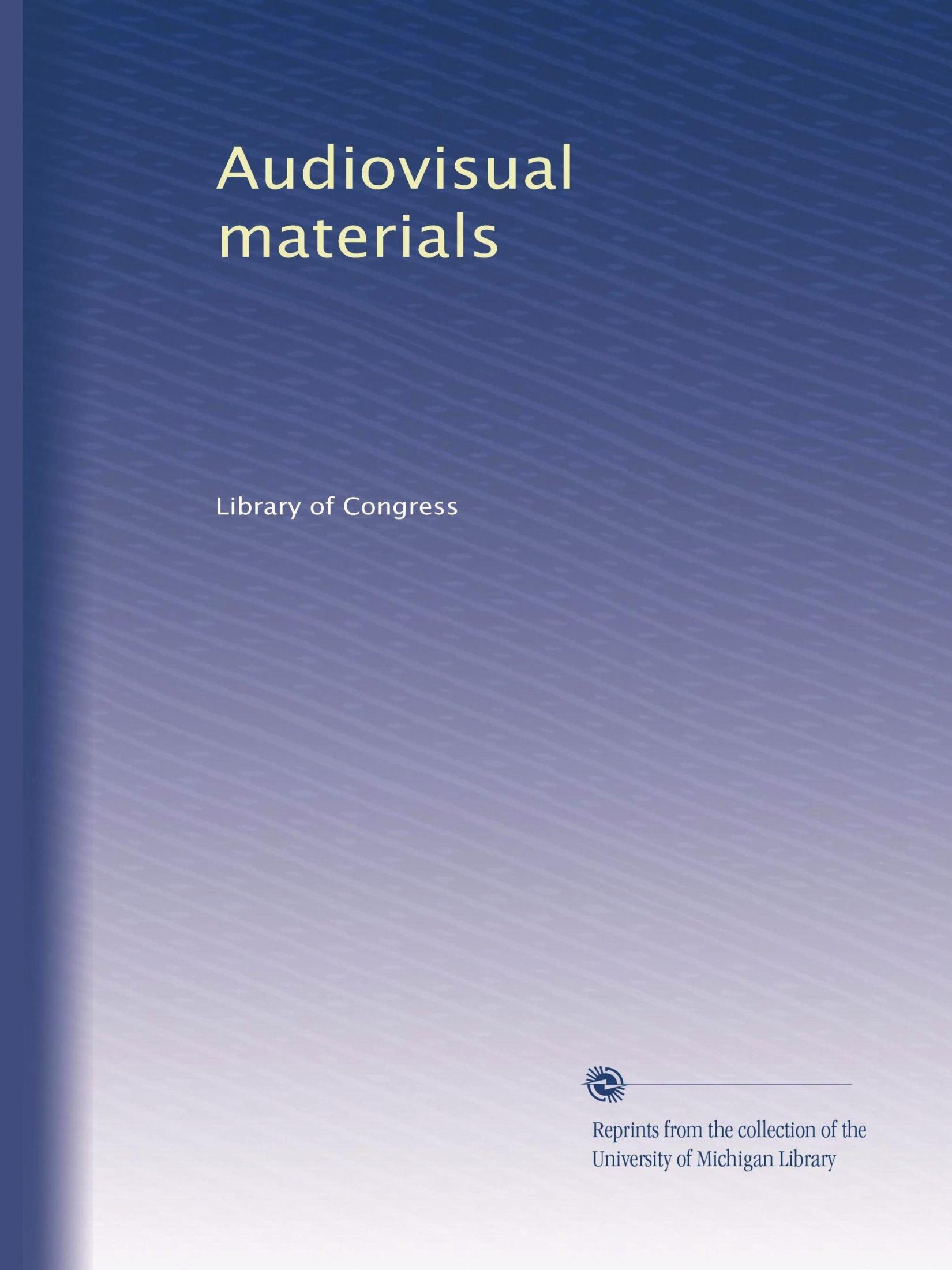 Audiovisual materials pdf epub