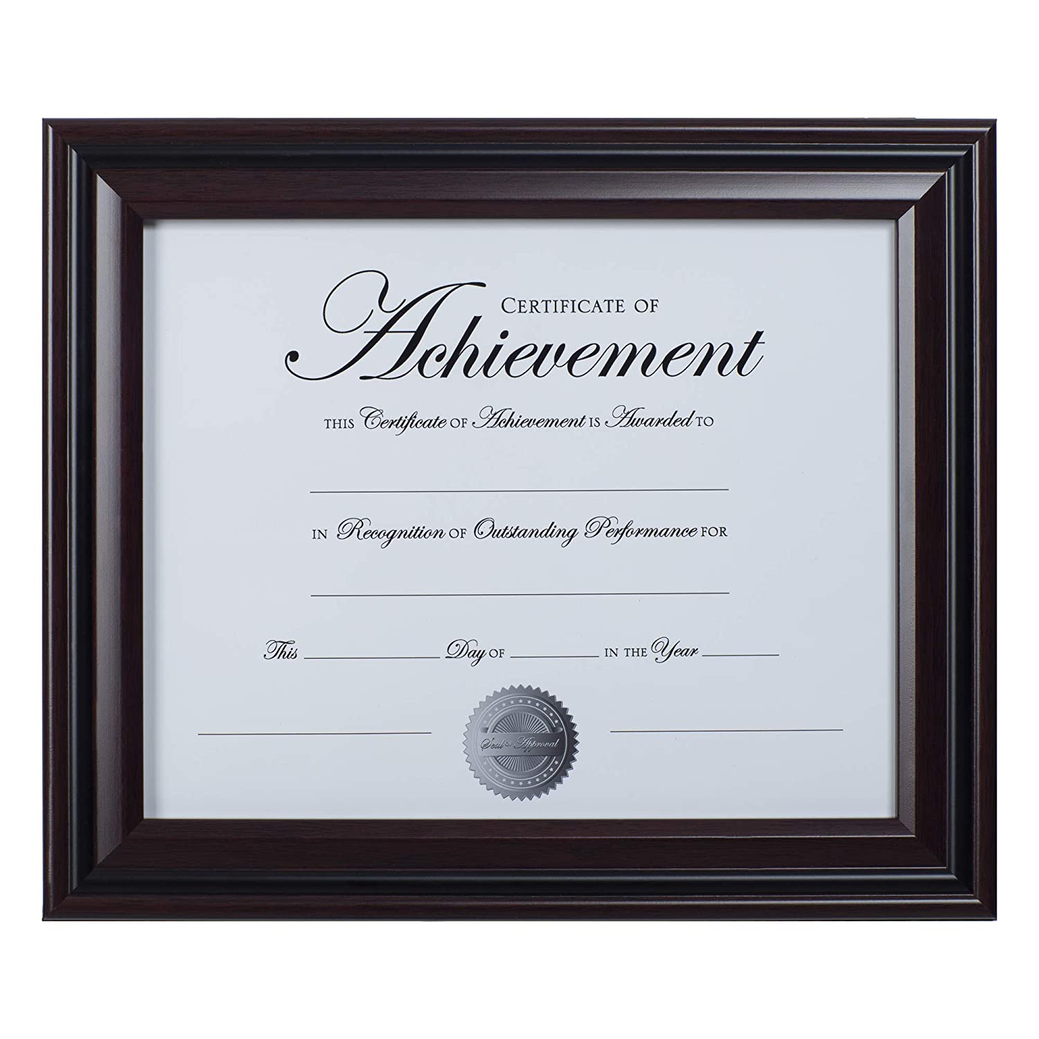 Dax 8.5x11 Classic Rosewood and Black Document Frame, Wall or Table Top Display NBG Home N15786NT DOBA-DAXN15786NT