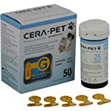 50 x CERA-PET Vet Blood Glucose Strips for Cats & Dogs, Pet Owners and Vet Test Replacement Strips