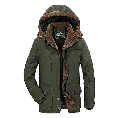 Amazon.com: Chaqueta de invierno para hombre, chaqueta con ...