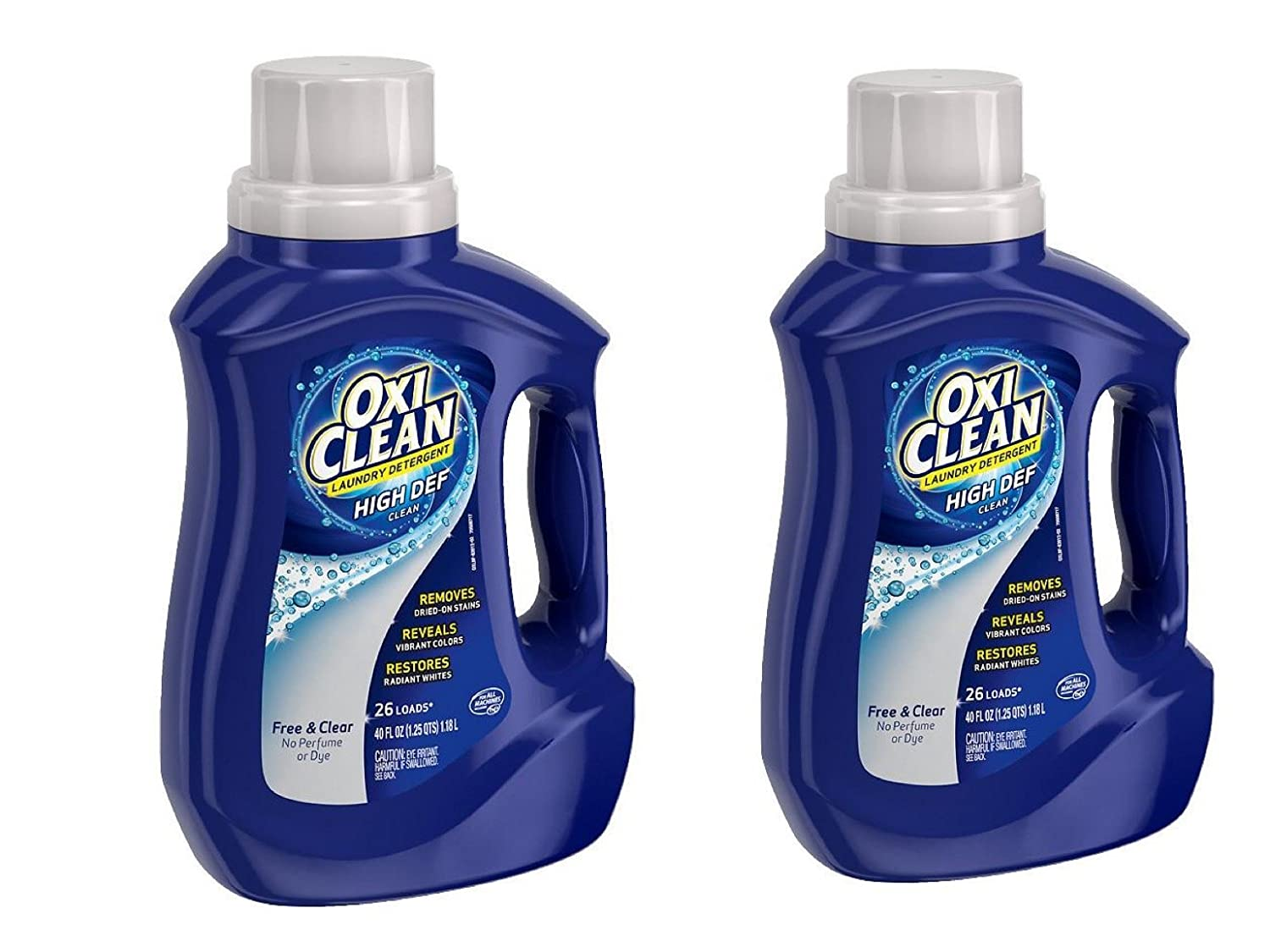 Oxiclean Laundry Detergent Free & Clear 40 oz - 26 load (pack 2)