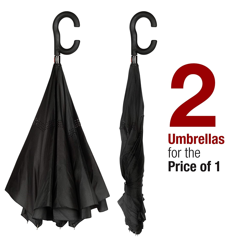 Amazon.com: eXuby - Pack de 2 paraguas de pie – diseño ...