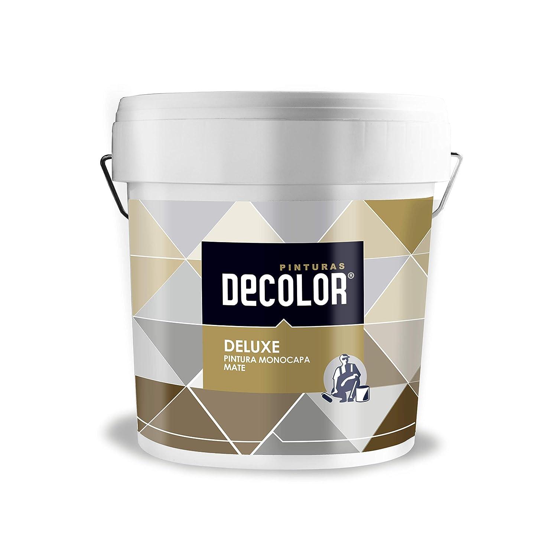 4 litros Ocre Pinturas Decolor 1476200018 Pintura interior mate ecol/ógica