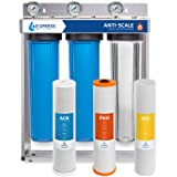 Express Water Whole House Water Filter – 3 Stage Anti Scale Home Water Filtration System – Sediment, Phosphate, Carbon Filter
