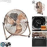 TROTEC TVM 11 Bodenventilator Kupfer Design Ventilator/Windmaschine | 3 Geschwindigkeitsstufen | 37 Watt Leistung | Durchmesser 35 cm