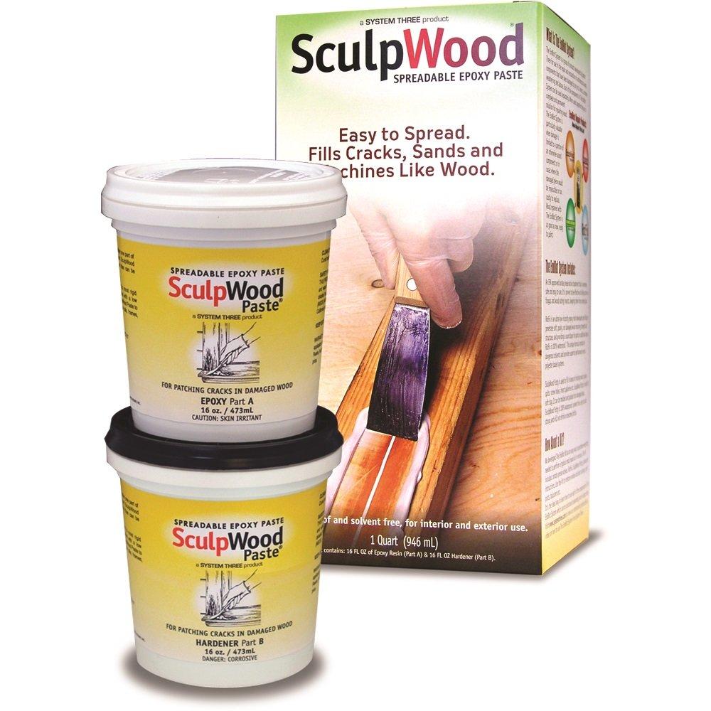 System Three Resins 1-Quart SculpWood Epoxy Paste Kit