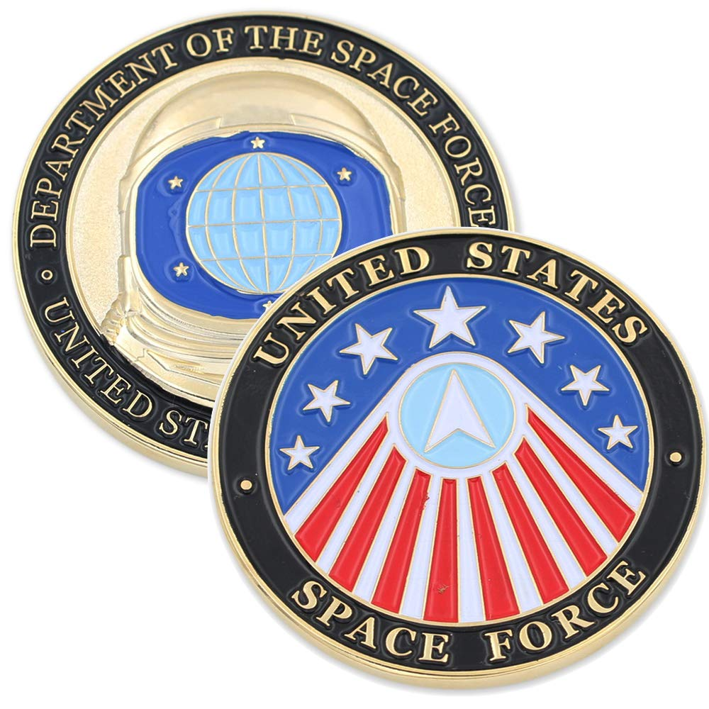 1 Antique Silver Coin WizardPins Department of The Space Force USA