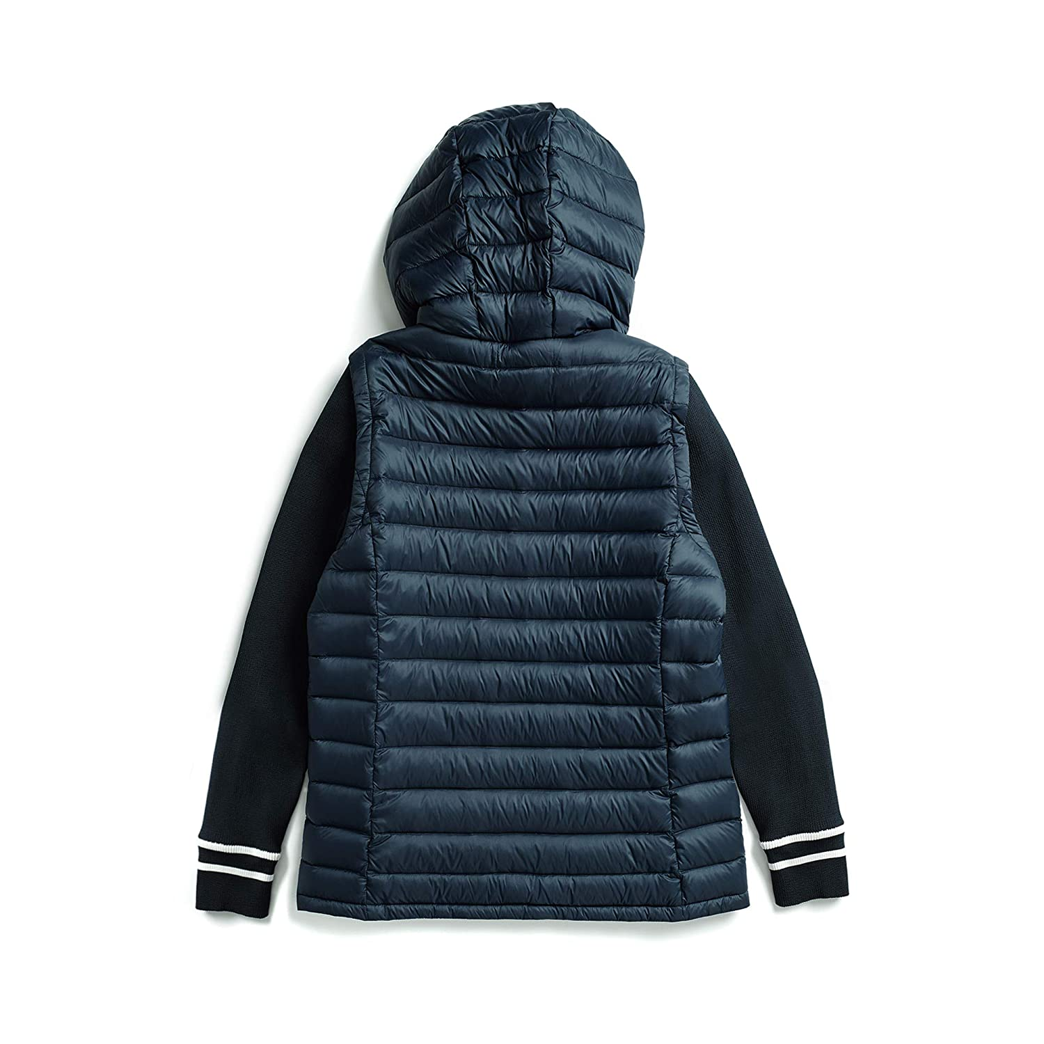 b9d82fa68 Tommy Hilfiger Women's Adaptive Puffer Jacket with Knit Sleeves and ...