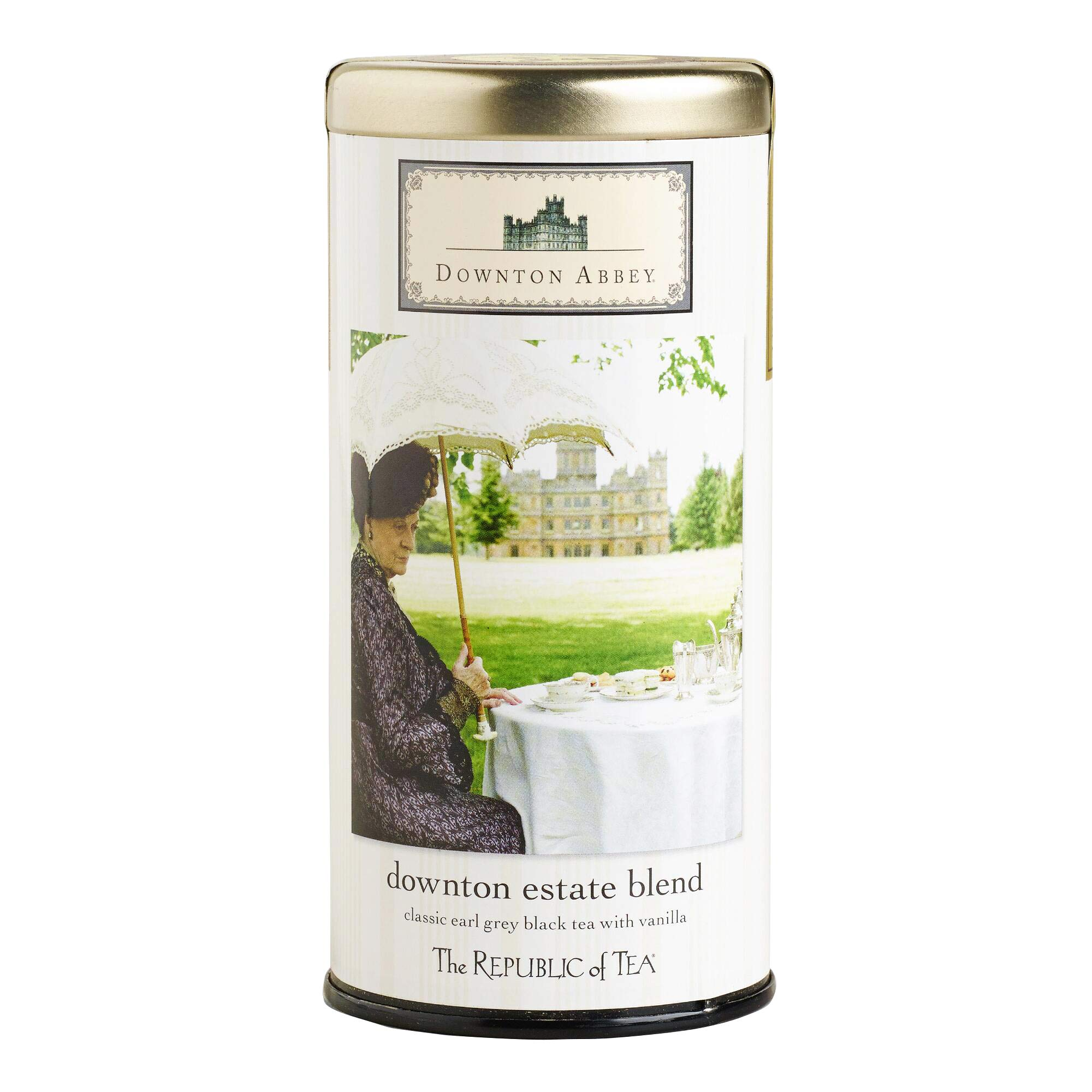 Republic of Tea Downton Abbey Estate Blend Classic Black Earl Grey Black Tea with Vanilla 36 Tea Bags by World Market