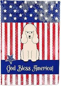 Caroline's Treasures BB3065GF Patriotic USA Poodle White Flag Garden Size, Small, Multicolor