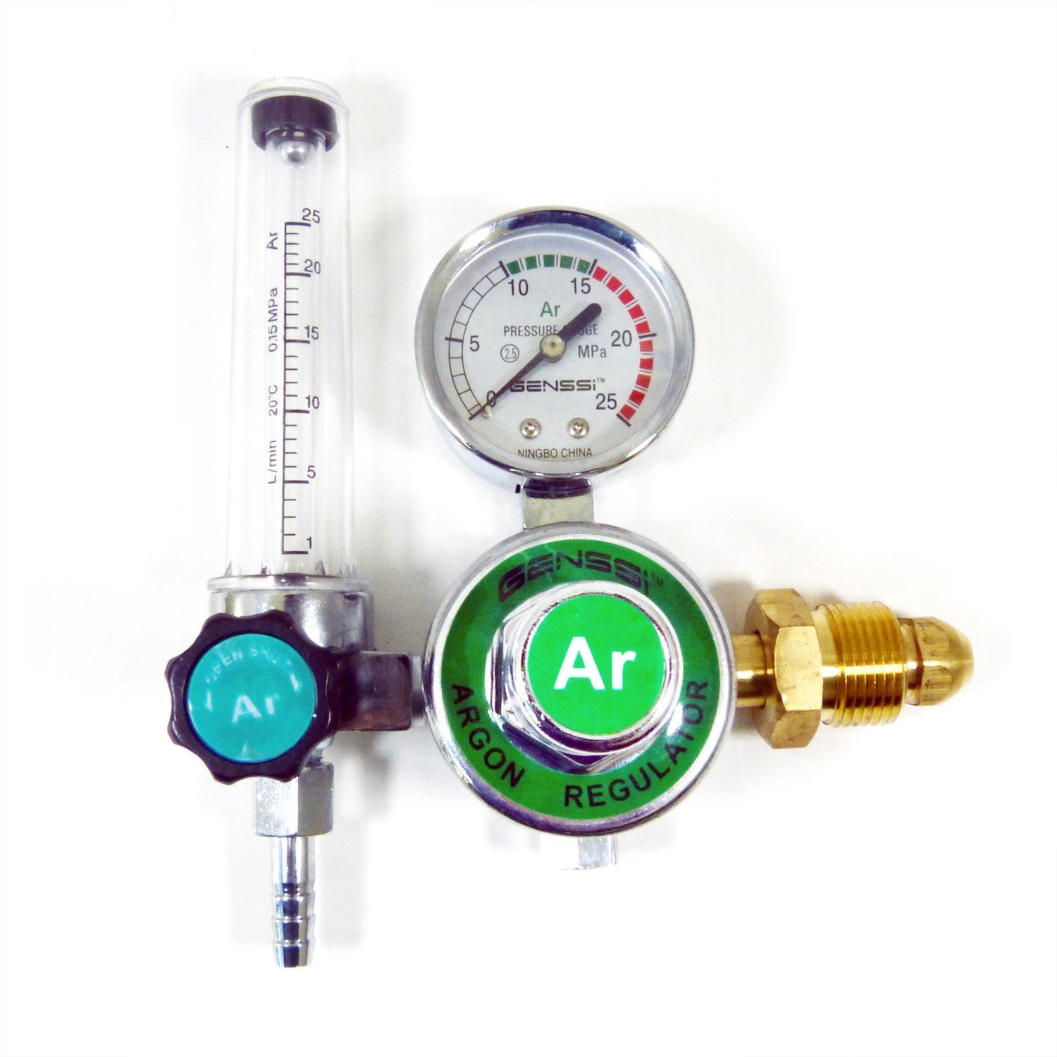 Argon CO2 Mig Tig Flowmeter Regulator Welding Regulator Gauge Gas Welder GENSSI ARGON-REG