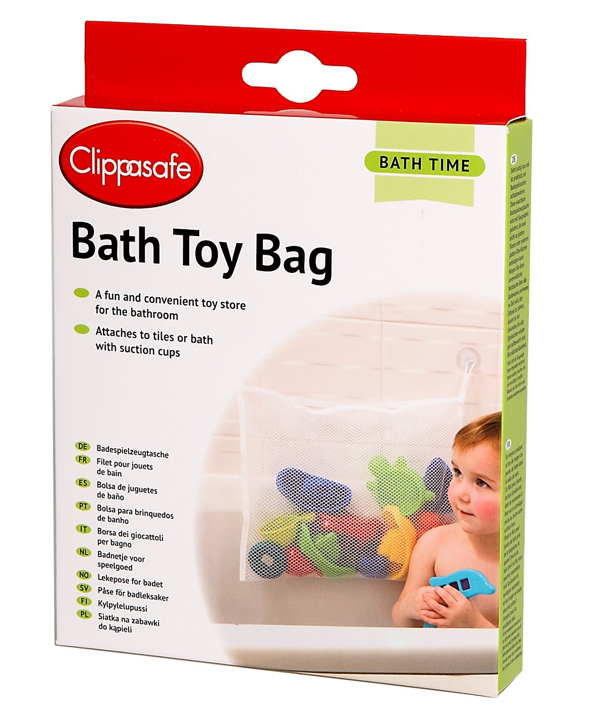 Clippasafe Bath Toy Bag - White CL350FFP