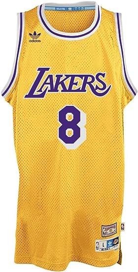 Amazon Com Adidas Kobe Bryant Los Angeles Lakers Gold Throwback Swingman Jersey X Large Clothing