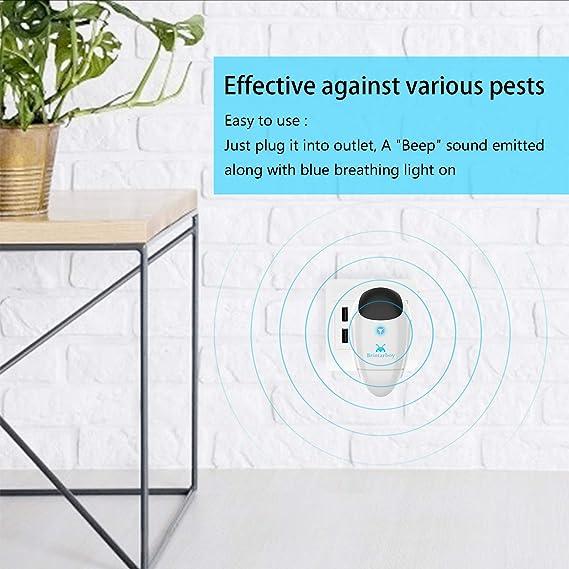 Bristarboy Ultrasonic Pest Repeller 4 Packs, Electronic Indoor Pest Repellent Plug in Pest Control for Basement, Warehouse, Bedroom, Garage