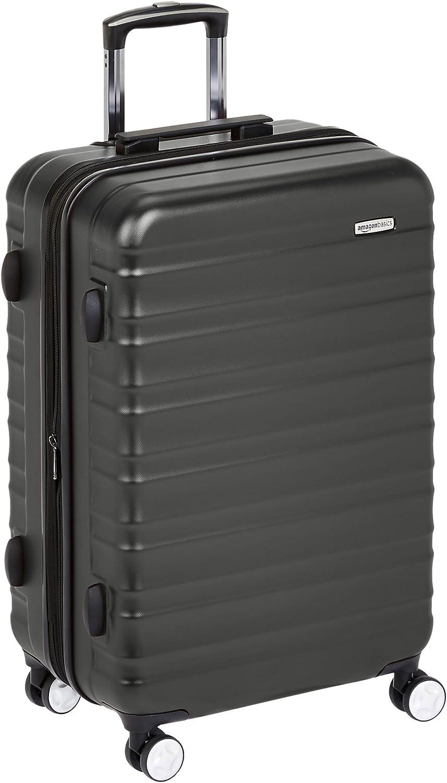 AmazonBasics - Maleta rígida de alta calidad, con ruedas y cerradura TSA incorporada - 68 cm, Negro