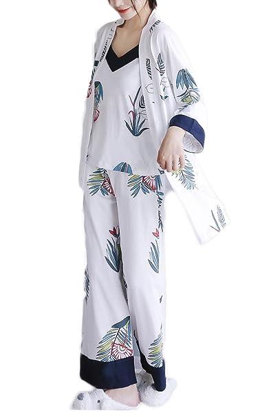 RENHONG Mujer/Hombre Unisex Otoño/Invierno Franela Acogedor Cálido Inicio Albornoz Albornoz Pijamas Acolchado