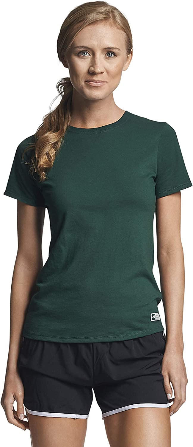Russell Athletic Women's Cotton Performance T-Shirts at  Women's Clothing store