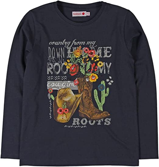 boboli Camiseta de Manga Larga para Niñas: Amazon.es: Ropa y accesorios